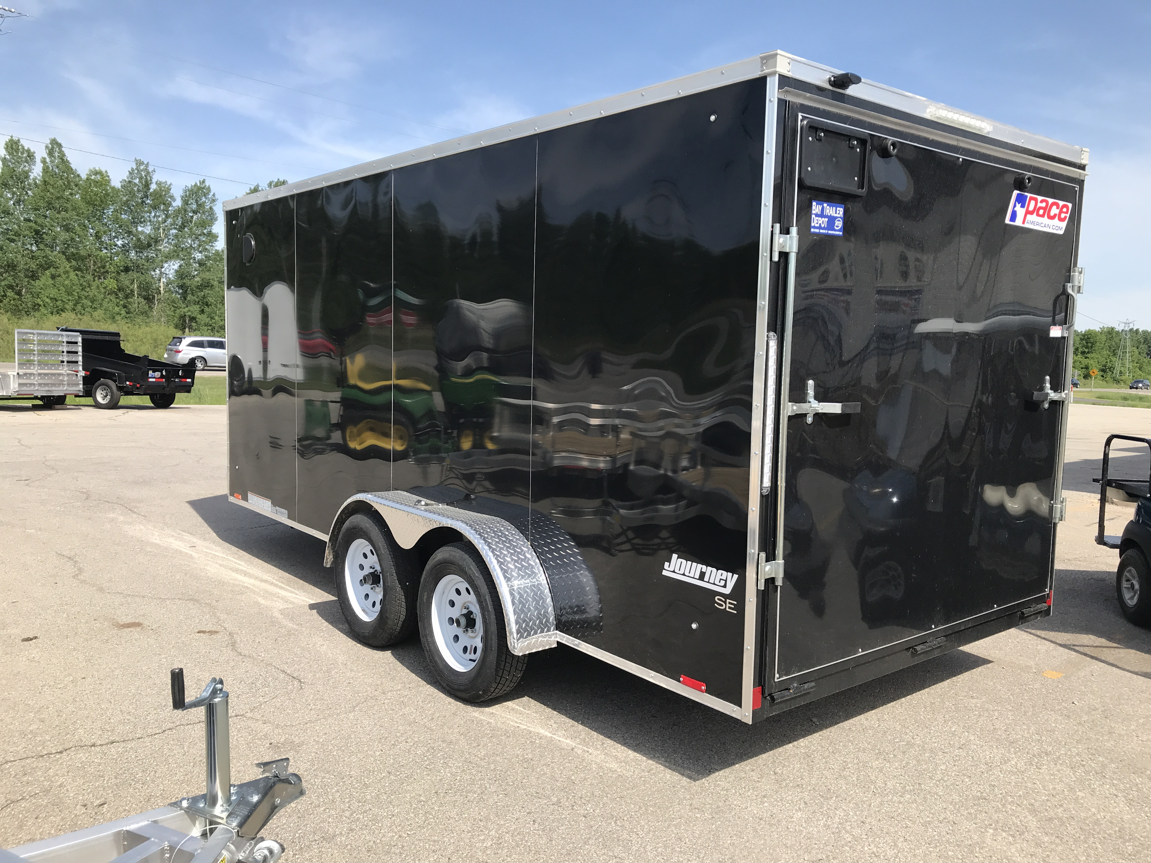 2019 Pace American Journey Se 7 X 16 R6 Black Bay Trailer Depot Wiring Diagram Overview Standard Features