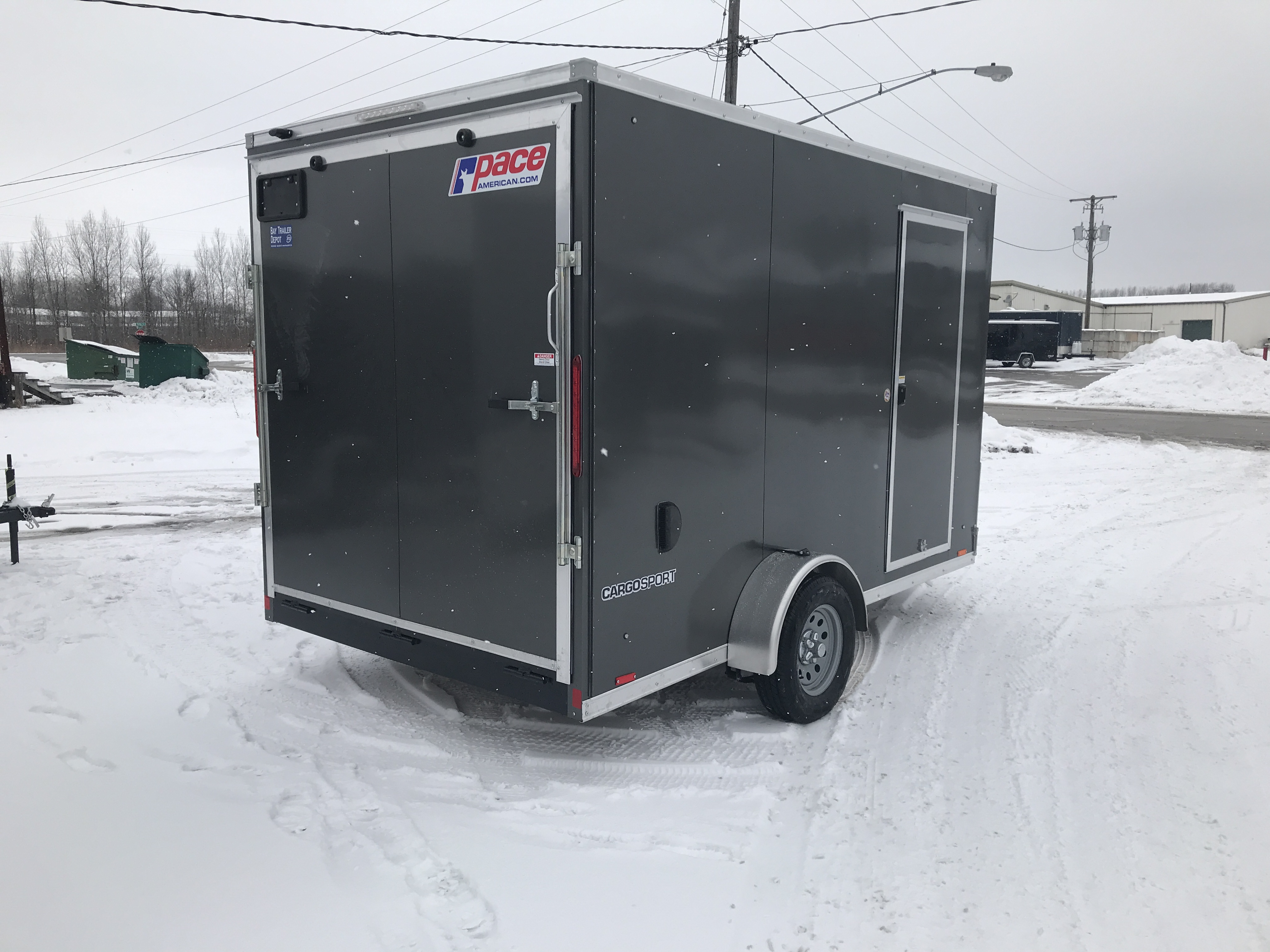 2019 Pace American Cargosport 7 X 12 R12 Charcoal Bay Trailer Wiring Diagram Overview Standard Features